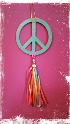 Colgantes Moviles - Adornos - Casa - 515865 Diy For Teens, Hippie Chic, Craft Gifts, Handicraft, Peace And Love, Decoupage, Tassels, Shabby Chic, Diy Crafts