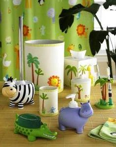 Charmant Zoo Friends Bathroom Accessories By Kassatex
