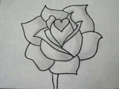 "How to draw a rose (the webpage has links to many ""how to draw X flower"" videos)."