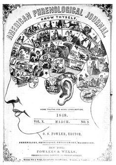 Vintage Phrenology Illustration #vintage #design #diagram #illustration