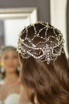 Just regal!  Elena Designs E788 Queen Hera Headpiece - exquisite! -Affordable Elegance Bridal -