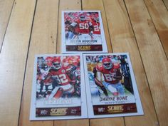 JUSTIN-HOUSTON-DWAYNE-BOWE-2014-Score-Kansas-City-Chiefs-3-Base-Card-Lot #KansasCityChiefs #NFL #footballcards