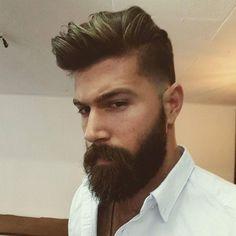 Hair Men Style, Hair And Beard Styles, Short Hair Styles, Long Bob Hairstyles, Trendy Hairstyles, Hair Extension Care, Beautiful Men Faces, Gorgeous Men, Beard Love
