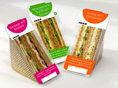 Sandwich packaging design for IKEA restaurants in the UK, by Clinton Smith Design Consultants, London, UK. Sandwich Packaging, Food Box Packaging, Food Packaging Design, Ikea, Diner Recipes, Delicious Sandwiches, Starbucks Drinks, Sandwich Recipes, Design Consultant