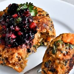 Sweet Potato Quinoa Cakes - with a few adjustments this could be an awesome plant-strong dish!