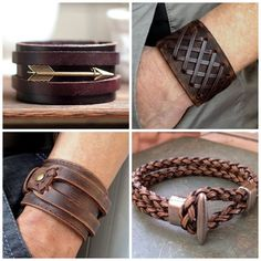 for the Modern Man Why is it really important for men to accessorize?Why is it really important for men to accessorize? Leather Cuffs, Leather Jewelry, Leather Men, Leather Bracelets, Men's Jewelry, Leather Wristbands, Jewellery, Leather Jackets, Pink Leather