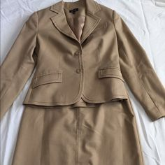 Matching skirt and blazer Matching tan skirt and blazer. Only worn once or twice and in perfect condition. Other