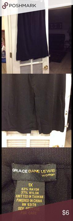 1X Grace Dane Lewis long skirt good condition 1X Grace Dane Lewis long skirt with split in back good condition elastic waist Grace Dane Lewis Skirts Maxi