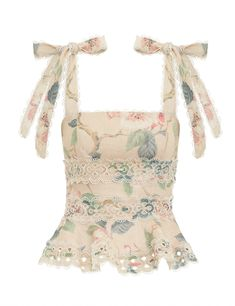 The Kirra Tie Shoulder Cropped Top in Peach Magnolia from our Resort Swim 2020 Collection. A playful linen cropped top featuring self tie shoulder straps and a ribbon thread trim throughout. linen, cropped top with fit and flare peplum silhouette, self t Grunge Look, Style Grunge, 90s Grunge, Soft Grunge, Grunge Outfits, Casual Outfits, Cute Outfits, Fashionable Outfits, Work Outfits