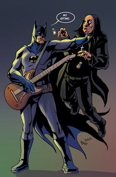 Batman vs. Ozzy - THE LINE IT IS DRAWN #125 – ROCK AND ROLL SUPERHEROES!