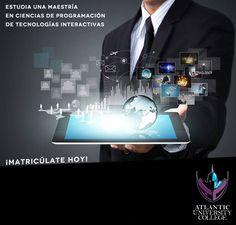 ¿Sabías que en el mundo empresarial y profesional solo los innovadores tendrán oportunidad de sobrevivir? La innovación es el presente y el futuro y el mundo empresarial y profesional exige personas más creativas y preparadas. ¿Ya tienes un Bachillerato y te gustaría obtener una innovadora Maestría? Estudia una Maestría en Ciencias de Programación de Tecnologías Interactivas. ¡Matricúlate ya! Llámanos al: 787-720-1022 o escríbenos a: Admisiones@Atlanticu.edu #SéUnGladiador