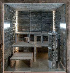 Design Sauna aus Kelo Holz