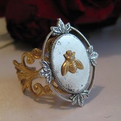 Victorian Bee Ring by elle.paisley designs, via Flickr
