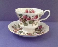 Royal Albert Un-Named Bone China England Raspberry Teacup Set by Whitepearlfinds on Etsy https://www.etsy.com/listing/239356617/royal-albert-un-named-bone-china-england