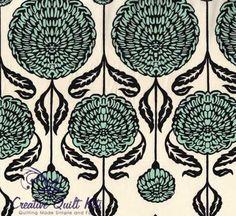 Blue+Chrysanthemum+Bloom,+Birch+Farm+by+Westminster+Fabrics+