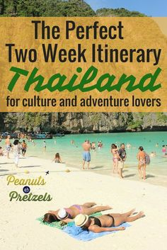 With so many things to see and do, it's tough to plan a trip to Thailand so we've put together this two week Thailand Itinerary.  Our Perfect Two Week Thailand Itinerary includes the best places to visit in Thailand for travelers who want to experience Thailand's culture and adventure, and to get a taste of different regions of Thailand. Thailand is an incredible destination and we believe this two week Thailand Itinerary will give you a great overview of this beautiful country. | Peanuts or…