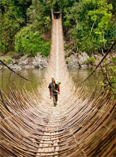 50 Places to visit before you die [Part 2], Cane bridge in the village Kabua, Republic Of The Congo