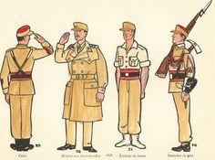 Los Regulares. Uniformes de 1962