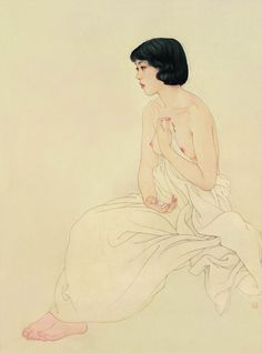 Art by He Jiaying - Rosie Chuong Art And Illustration, Painting & Drawing, Figure Painting, Female Body Art, China Art, Japanese Prints, Japan Art, Chinese Painting, Gravure