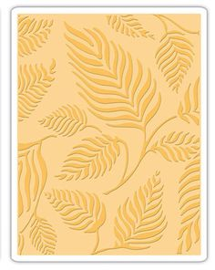 SIZZIX Embossing Folder LEAVES - NEW (out of the box but never used) #SIZZIX