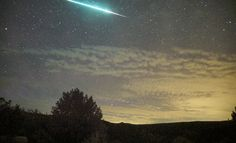 Mike Lewinski said this Perseid fireball was so bright that it illuminated the clouds. Notice the greenish color. Mike was at Embudo, New Mexico. Thanks for posting! Ufo, Perseid Meteor Shower, Today Images, World Images, Earth From Space, Space And Astronomy, Stargazer, Planet Earth, Natural Beauty