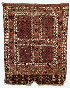 Yomud Ensi: Yomut Adler Ensi Oriental Rug -1860