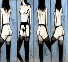 Cave to Canvas, Bernard Buffet, Screen with Nudes, 1960