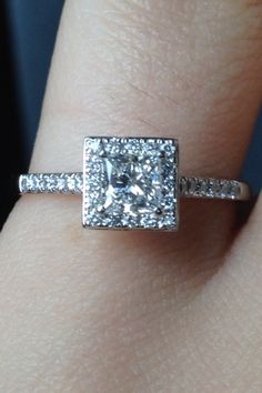 Love square and princess cut!! Gorgeous clarity too!