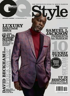 GQ South Africa Style Autumn Winter 2013 Samuel L Jackson Magazine Cover Samuel L. Jackson Covers GQ Style South Africa