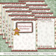 Compact Filofax Franklin Covey Christmas Planner