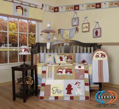 Baby Boy Fire Truck 13 Piece Nursery CRIB BEDDING SET Specail Discount Sales #GEENNY