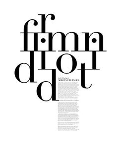 best websites - Great type and layout piece