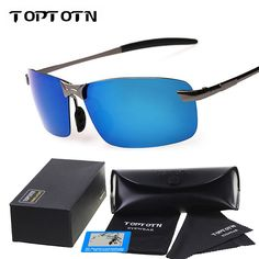 TOPTOTN Brand Designer Aluminum Magnesium Alloy Polarized glasses For Men Sport Driving  Glasses  Oculos De Sol