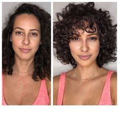 Curly Hair Styles, Curly Hair With Bangs, Curly Hair Cuts, Natural Hair Styles, Layered Curly Hair, 4b Hair, Curly Hair Fringe, Updo Curly, Thin Hair