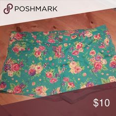 Floral Wallflower Jean Shorts One pair of Wallflower floral shorts size 17 great condition! Super cute for summer! Wallflower Shorts