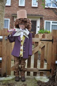 World book day Willy Wonka costume by Claire Mackaness www.clairemackaness.com you too can learn how to make wonderful kids dressing up costumes under claires tuition