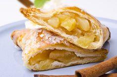 Recette de Chaussons légers aux pommes, poires et cannelle. Facile et rapide à réaliser, goûteuse et diététique. Ingrédients, préparation et recettes associées.