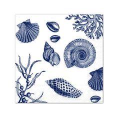 Shore Thing White Blue Cocktail Napkins