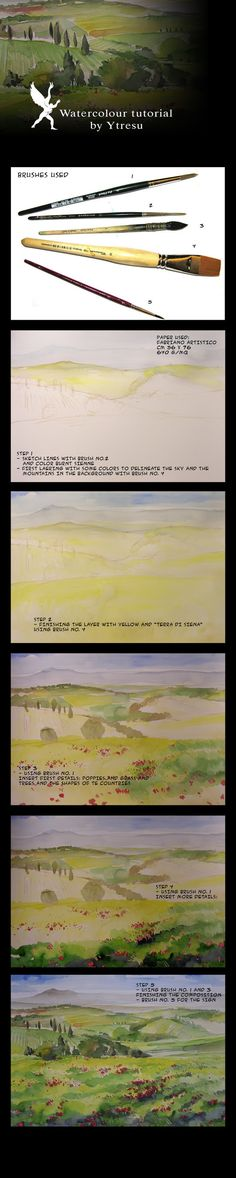 Step by step tutorial for watercolorist