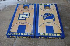 Marquette Warriiors Golden Eagles Custom Cornhole Basketball Court set