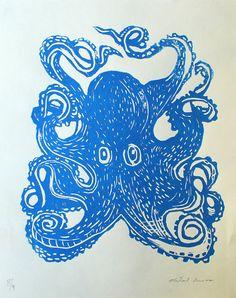 Thomas's Inspiration - Octopus Screenprint