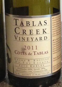 2011 Tablas Creek Côtes de Tablas - USA, California, Central Coast, Paso Robles…
