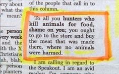 Where no animals were harmed.
