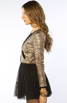 #MissKL #SpringtimeinParis  MINKPINK The Shining Sequin Jacket in Gold : MissKL.com - Cutting Edge Women's Fashion, Accessories and Shoes.