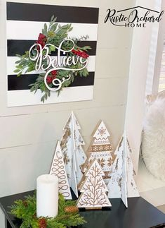 Create a winter shiplap sign to use after the holidays! This is a versatile piece of winter farmhouse decor DIY that's easy to make.