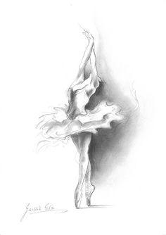 BALLERINA. Impresión del arte del dibujo por Ewa por EwaGawlik