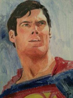 """Here is a quick piece I did of the """"One True Superman,"""" Christopher Reeve.  This was a demo for a portrait class."""