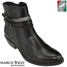 Marco Tozzi női bőr  2-25038-27 096 fekete kombi Ankle, Boots, Fashion, Crotch Boots, Moda, La Mode, Heeled Boots, Shoe Boot, Fasion