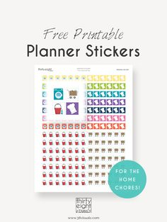 "Free Printable Planner Stickers: ""The Household Set"" 