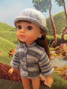 Hearts for Hearts and Wellie Wishers Sweater and Rolled Brim Hat,Soft…